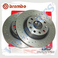 Диск перфорированный задний Brembo Xtra 08.A202.1X