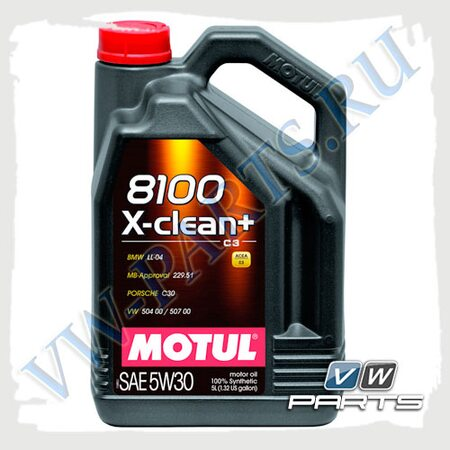 Масло моторное Motul 8100 X-Clean Plus C3 5W30 (5л.)