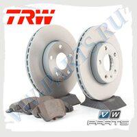 Комплект передних тормозных дисков с колодками TRW 1798002