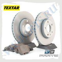 Комплект передних тормозных дисков с колодками Textar 1798003