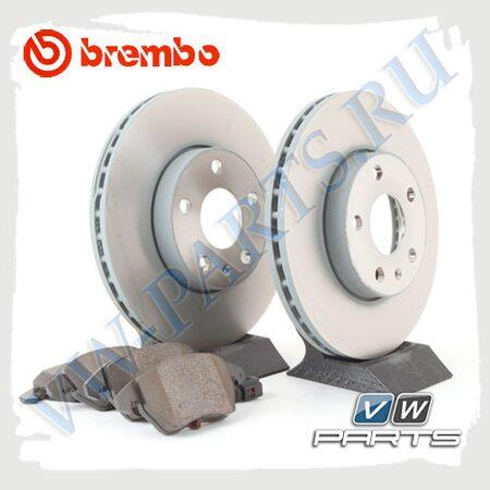 Комплект передних тормозных дисков с колодками Brembo 1798006