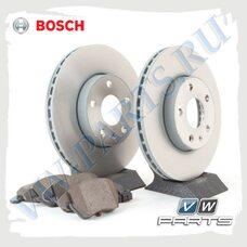 Комплект передних тормозных дисков с колодками Bosch 1798007