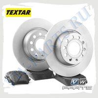 Комплект задних тормозных дисков с колодками Textar 1798010