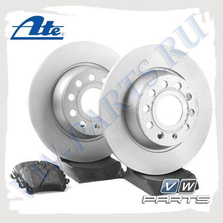 Комплект задних тормозных дисков с колодками Ate 1798012