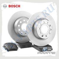 Комплект задних тормозных дисков с колодками Bosch 1798014