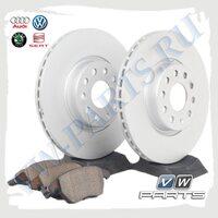 Комплект передних тормозных дисков с колодками VAG 1798015