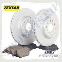 Комплект передних тормозных дисков с колодками Textar 1798017