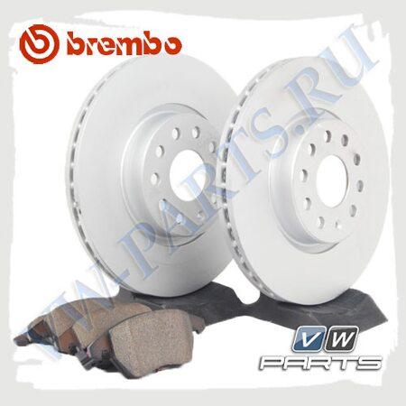 Комплект передних тормозных дисков с колодками Brembo 1798020