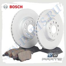 Комплект передних тормозных дисков с колодками Bosch 1798021
