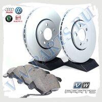 Комплект передних тормозных дисков с колодками VAG 1798034