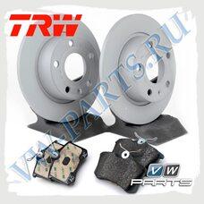 Комплект задних тормозных дисков с колодками TRW 1798046