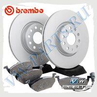 Комплект передних тормозных дисков с колодками Brembo 1798052