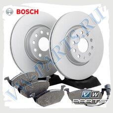Комплект передних тормозных дисков с колодками Bosch 1798053
