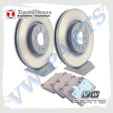 Комплект передних тормозных дисков с колодками Zimmermann 1798061
