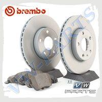 Комплект передних тормозных дисков с колодками Brembo 1798065