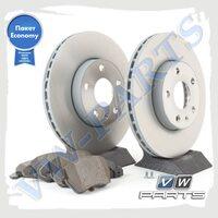 Комплект передних тормозных дисков с колодками VAG Economy 1798066