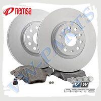 Комплект передних тормозных дисков с колодками Remsa 1798068