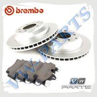 Комплект задних тормозных дисков с колодками Brembo 1798071