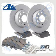 Комплект задних тормозных дисков с колодками ATE 1798075