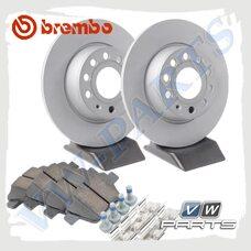 Комплект задних тормозных дисков с колодками Brembo 1798076
