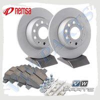 Комплект задних тормозных дисков с колодками Remsa 1798077