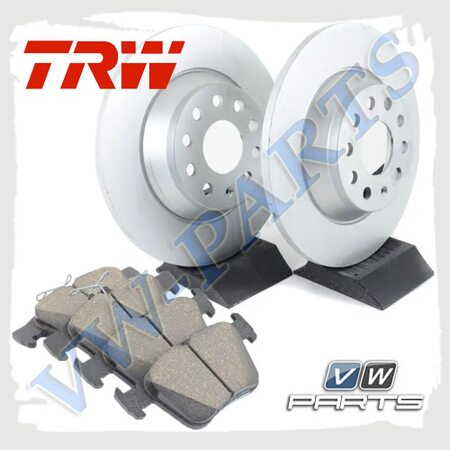 Комплект задних тормозных дисков с колодками TRW 1798083