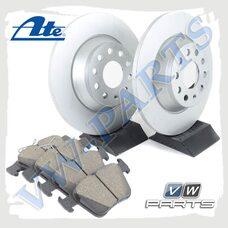 Комплект задних тормозных дисков с колодками ATE 1798084