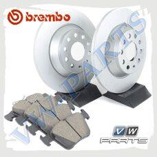 Комплект задних тормозных дисков с колодками Brembo 1798085