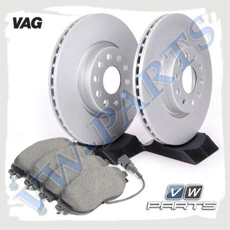 Комплект передних тормозных дисков с колодками VAG 1798086
