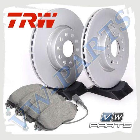 Комплект передних тормозных дисков с колодками TRW 1798087