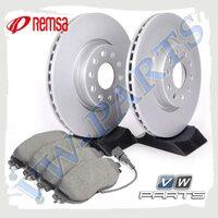 Комплект передних тормозных дисков с колодками Remsa 1798088