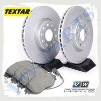 Комплект передних тормозных дисков с колодками Textar 1798089