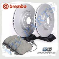 Комплект передних тормозных дисков с колодками Brembo 1798090