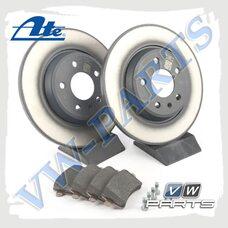 Комплект задних тормозных дисков с колодками ATE 1798098