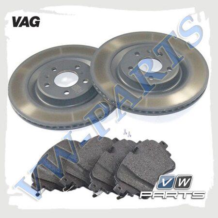Комплект задних тормозных дисков с колодками VAG 1798104