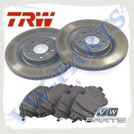Комплект задних тормозных дисков с колодками TRW 1798105