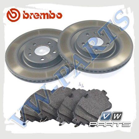 Комплект задних тормозных дисков с колодками Brembo 1798108