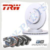 Комплект передних тормозных дисков с колодками TRW 1798110