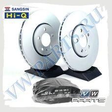 Комплект передних тормозных дисков с колодками Sangsin (Hi-Q) 1798129