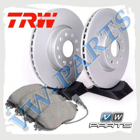 Комплект передних тормозных дисков с колодками TRW1798131