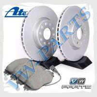 Комплект передних тормозных дисков с колодками Ate 1798132