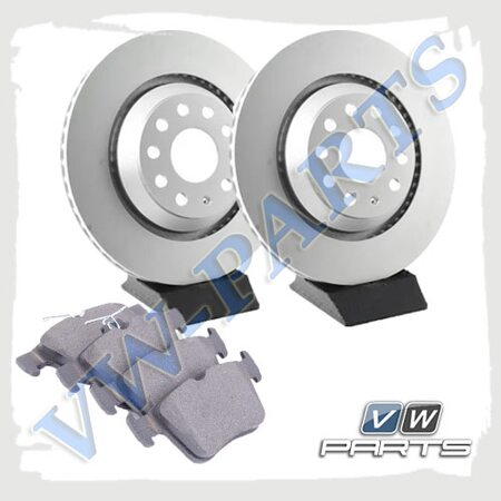 Комплект задних тормозных дисков с колодками VAG 1798136