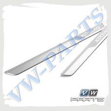 Алюминиевые декоративно-защитные накладки на пороги Skoda, 565071303B