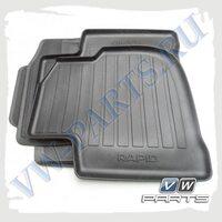 Коврики передние и задние резиновые VAG 5JB061550