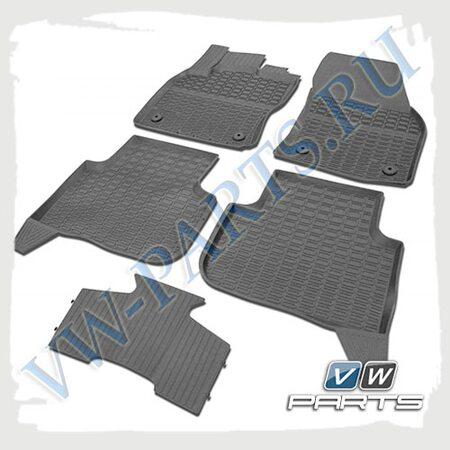Коврики передние и задние резиновые Poliplast 5NA061505