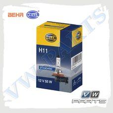 Лампа H11 (12V/55W) Behr-Hella 8GH008358-151