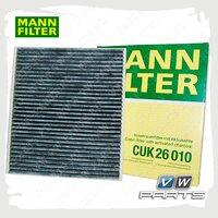 Фильтр салона (угольный) Mann CUK26010