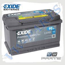 Аккумулятор EXIDE Premium 12V 90Ah 720A (315х175х190) EA900
