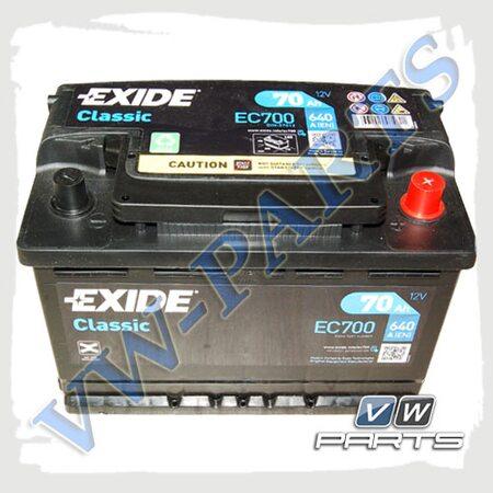 Аккумуляторная батарея Exide Classic (70Ah/640A) EC700