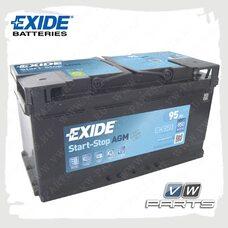 Аккумуляторная батарея Exide Start-Stop AGM (95Ah/850A) EK950